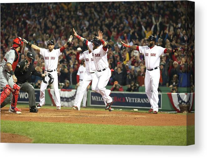 Playoffs Canvas Print featuring the photograph World Series - St Louis Cardinals V by Rob Carr