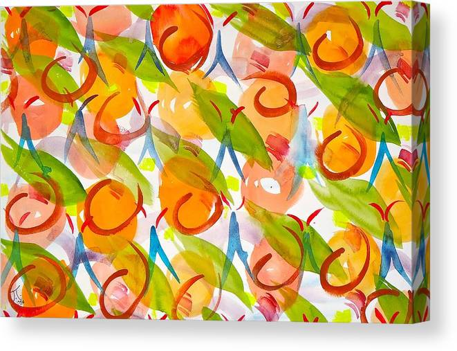 Pattern Canvas Print featuring the painting Pattern by Troy Thomas