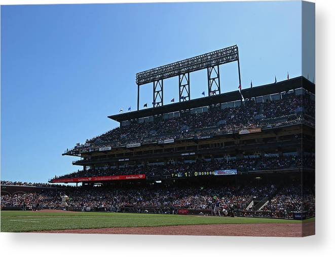 San Francisco Canvas Print featuring the photograph Colorado Rockies V. San Francisco Giants by Brad Mangin
