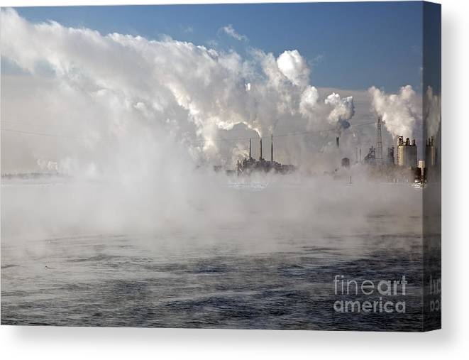 Environment Canvas Print featuring the photograph Detroit Winter by Jim West
