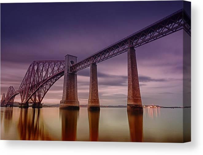 Canvas Print featuring the photograph Forth Rail Bridge by Jean-Noel Nicolas