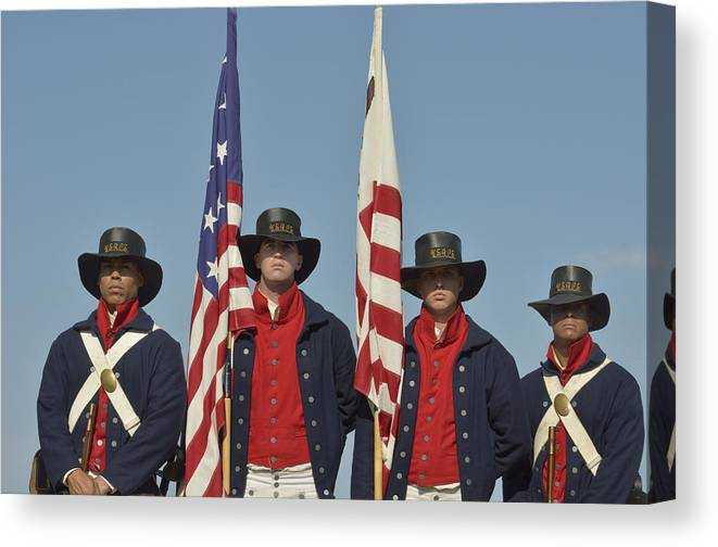 Military Canvas Print featuring the photograph Honor Guard by Marianne Campolongo