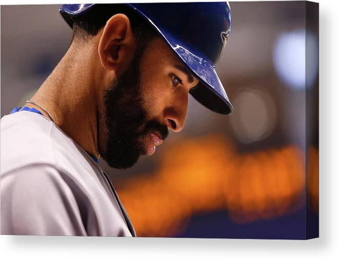 On-deck Circle Canvas Print featuring the photograph Toronto Blue Jays V Tampa Bay Rays by Brian Blanco