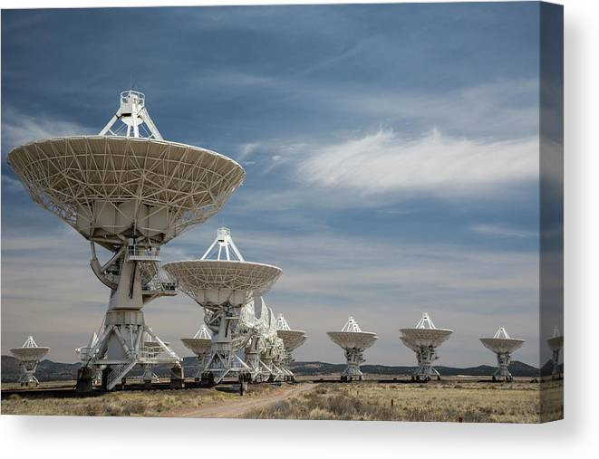 Landscape Canvas Print featuring the photograph Very Large Array by Jim West/science Photo Library