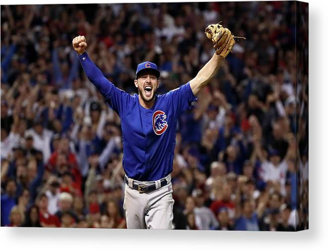 Three Quarter Length Canvas Print featuring the photograph World Series - Chicago Cubs V Cleveland by Ezra Shaw