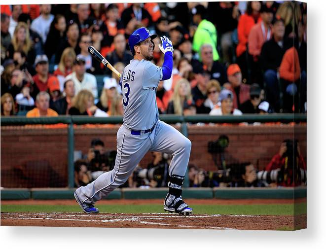 San Francisco Canvas Print featuring the photograph World Series - Kansas City Royals V San 3 by Rob Carr