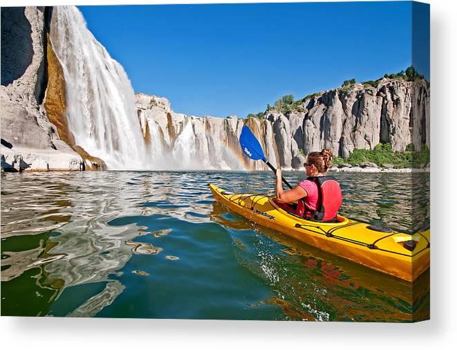 Jessica Florian Canvas Print featuring the photograph Kayak by Elijah Weber