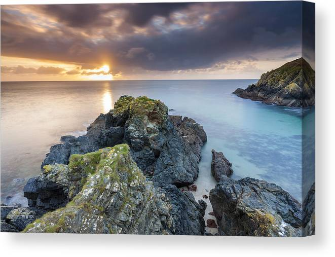 United Kingdom Canvas Print featuring the photograph Cadgwith by Sebastian Wasek