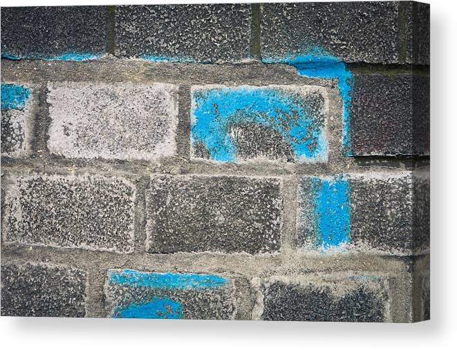 Abstract Canvas Print featuring the photograph Brick Wall by Tom Gowanlock