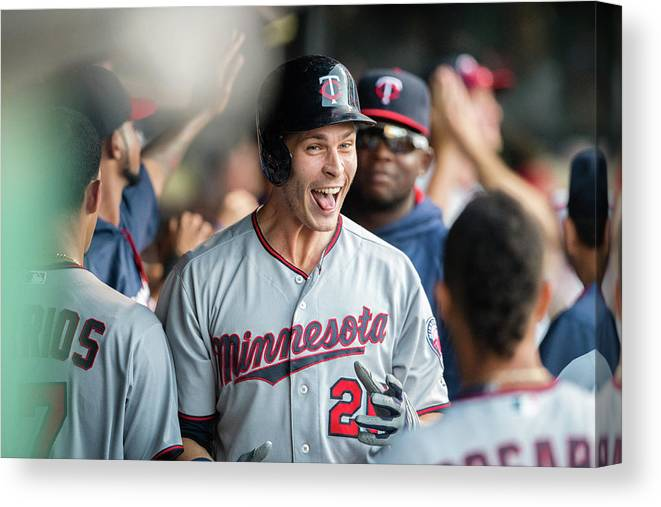 People Canvas Print featuring the photograph Minnesota Twins V Cleveland Indians 7 by Jason Miller