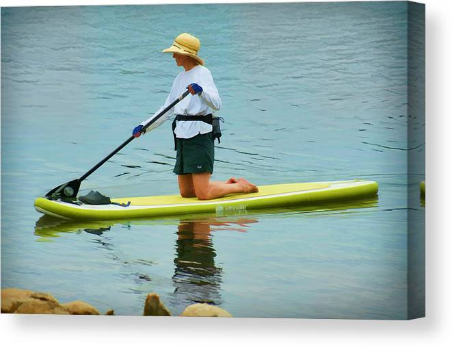 Lake Canvas Print featuring the photograph A Lazy Afternoon On The Lake by Carolyn Krek