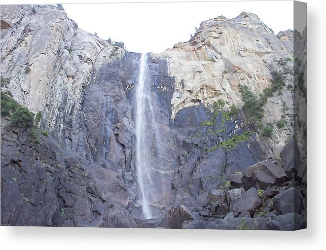 Falls Canvas Print featuring the photograph A Rock Face by Brian Williamson