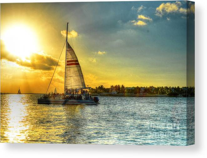 Sail Canvas Print featuring the photograph A Yacht Of Fun by Debbi Granruth