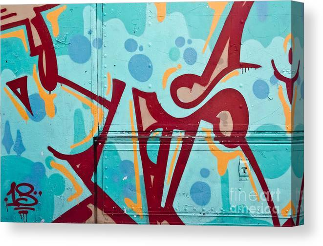 Abstract Graffiti On The Side Of The Truck Canvas Print