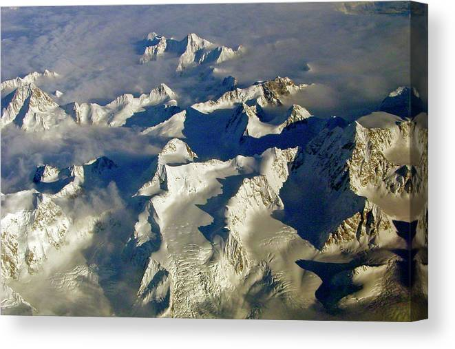 Aerial Photography Canvas Print featuring the photograph Aerial Ice Fields by Jeremy Rhoades