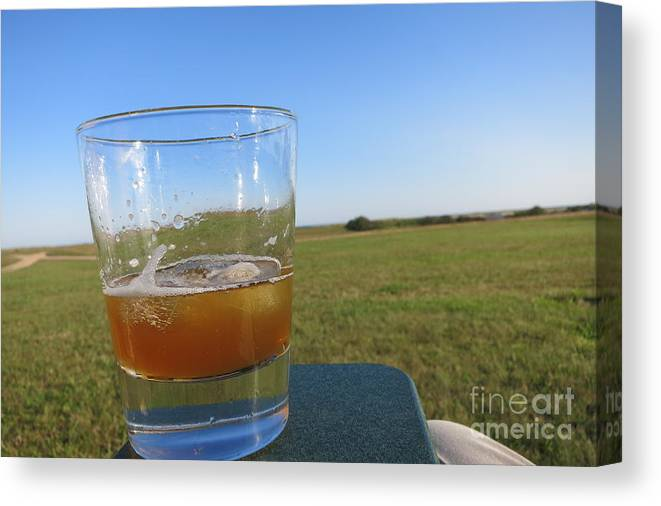 Canvas Print featuring the photograph Afternoon Drink by Chris Keeler