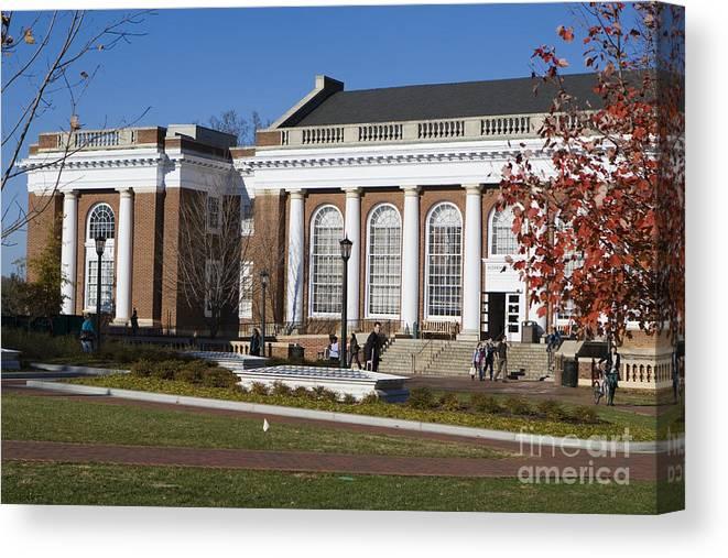 Alderman Library Canvas Print featuring the photograph Alderman Library University Of Virginia by Jason O Watson