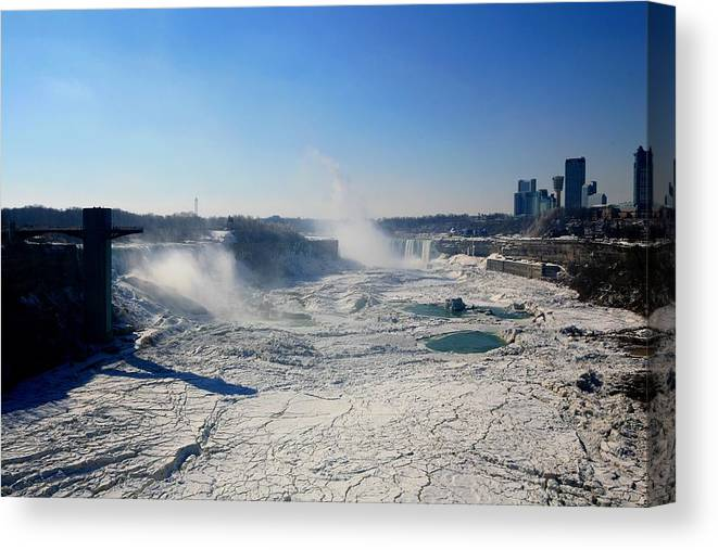 Niagara Falls Canvas Print featuring the photograph All The Falls by Eric Swan