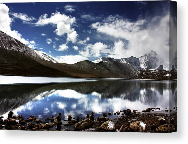 Landscape Canvas Print featuring the photograph Almost Heaven by Sonam Phintso Bhutia