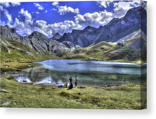Lake Canvas Print featuring the photograph Alps South France by Seruddin Salleh