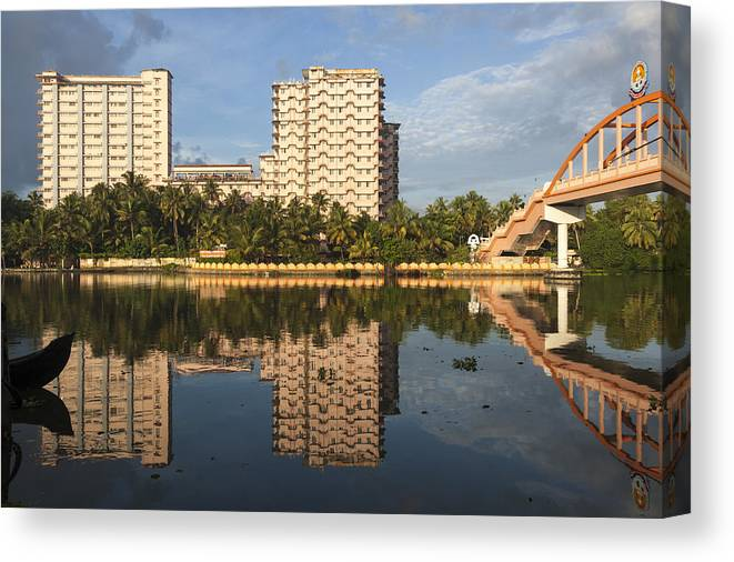 Amritapuri Canvas Print featuring the photograph Amritapuri And Amritasetu by Sonny Marcyan