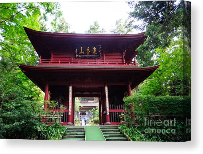 Ancient Gate To A Zen Buddhist Temple In Japan - Japanese Zen Buddhism  Canvas Print