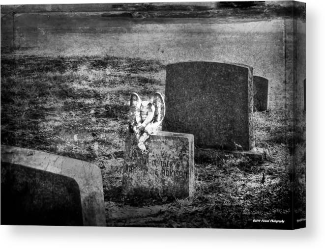 Cemetery Canvas Print featuring the photograph Angel Awaits by Debra Forand