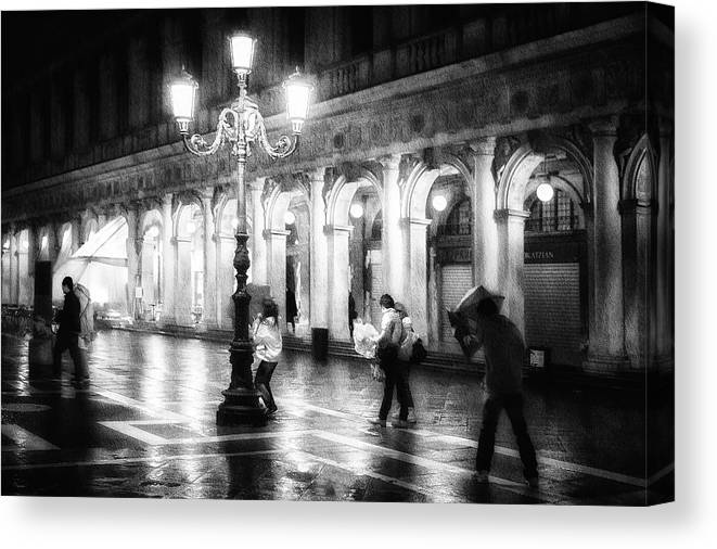Street Canvas Print featuring the photograph Apart From Storm And Rain ... by Roswitha Schleicher-schwarz