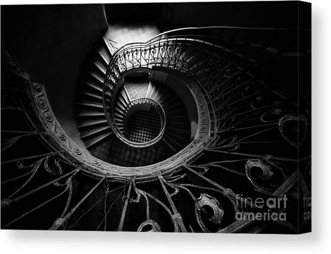 Architecture Canvas Print featuring the photograph Art Nouveau Staircase by Jaroslaw Blaminsky