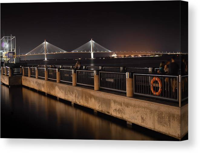 Arthur Ravenel Jr. Bridge Canvas Print featuring the photograph Arthur Ravenel Jr. Bridge by Chris Collins