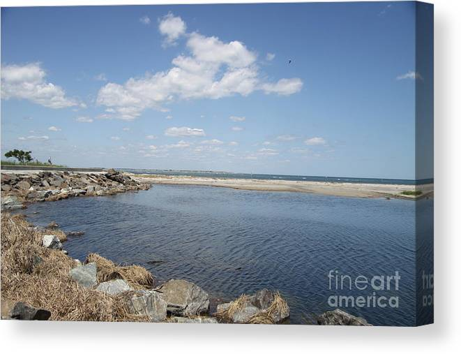 Bay Canvas Print featuring the photograph At The Bay by Christiane Schulze Art And Photography