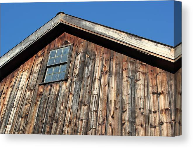 Old Building Canvas Print featuring the photograph At The Farmer's Market 3 by Mary Bedy