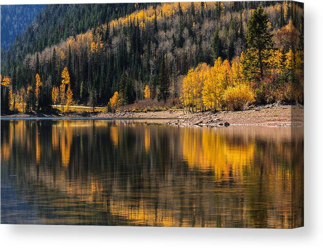 Gigimarie Canvas Print featuring the photograph Autumn Reflections by Gina Herbert