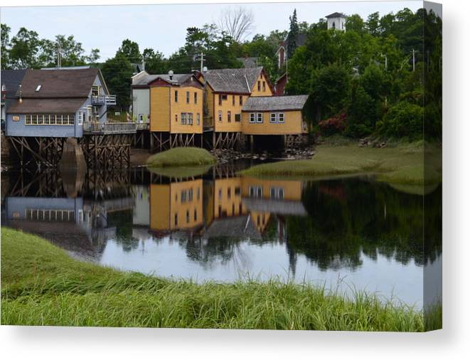 Bear River Canvas Print featuring the photograph Bear River Reflections by Mary Christian Stewart