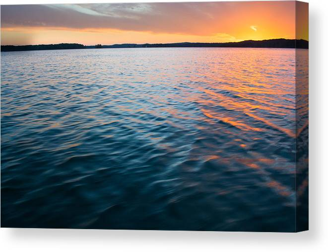 Tropical Sunset Canvas Print featuring the photograph Beautiful Waters by Parker Cunningham