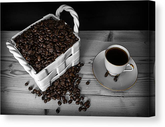 Black Canvas Print featuring the photograph Black Coffee by Jon Gretarsson