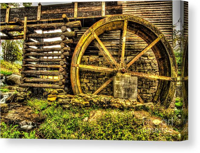 Mill Canvas Print featuring the photograph Blowing Cave Mill Est.1880 by George Kenhan