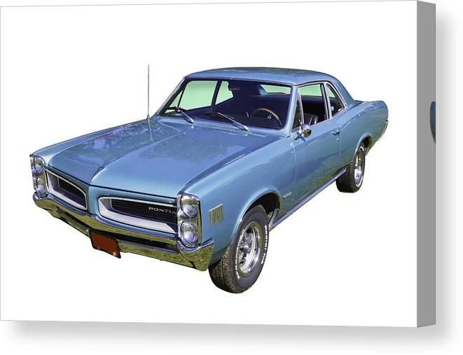 1966 Pontiac Lemans Canvas Print featuring the photograph Blue 1966 Pointiac Lemans by Keith Webber Jr