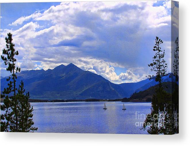 Blue Canvas Print featuring the photograph Blue Blue Blue by Audreen Gieger