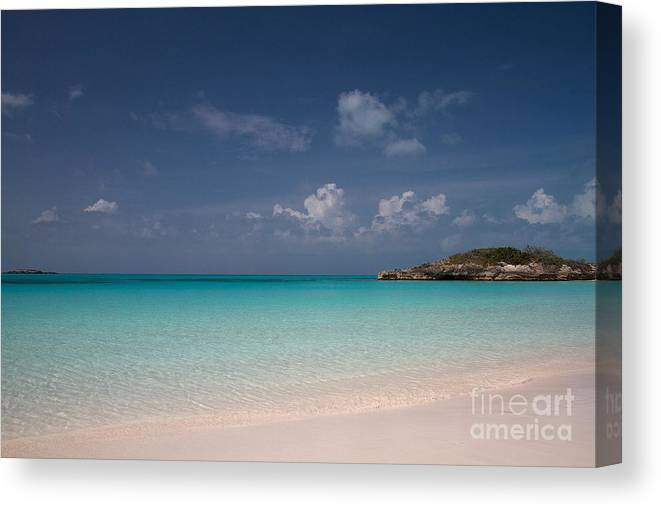 Beach Canvas Print featuring the photograph Blue On Blue On Sand by Cheryl Hurtak