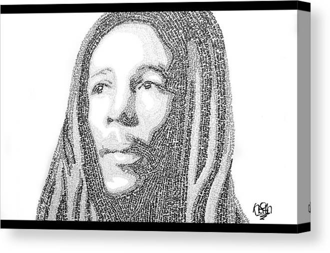 Bob Marley Canvas Print featuring the painting Bob Marley Painting by Keith Jensen