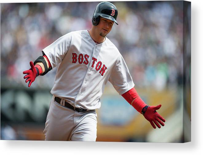 East Canvas Print featuring the photograph Boston Red Sox V. New York Yankees by Rob Tringali