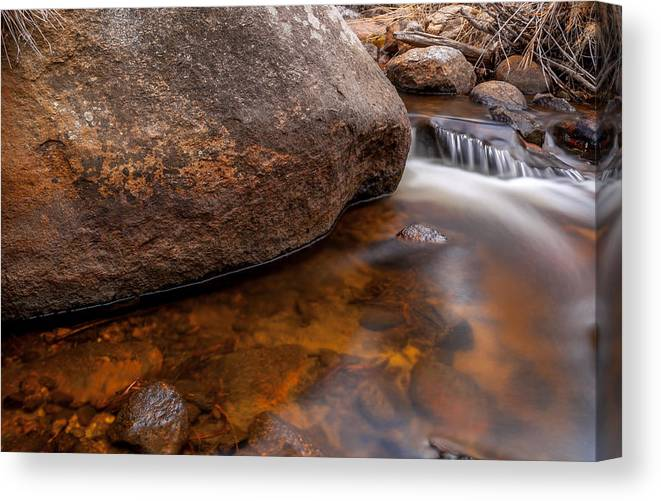 River Canvas Print featuring the photograph Boulder by Craig Forhan