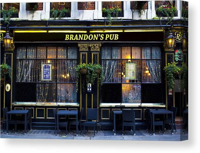 Brandon Canvas Print featuring the photograph Brandon's Pub by David Pyatt