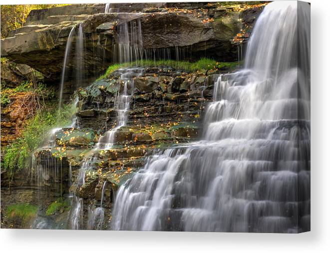 Brandywine Canvas Print featuring the photograph Brandywine Falls by Denny Beck
