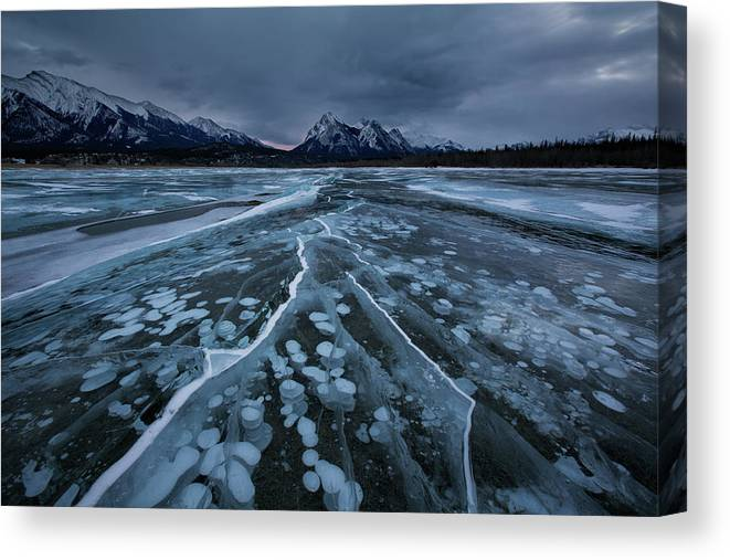 Breaking Canvas Print featuring the photograph Breaking Ices by Donald Luo