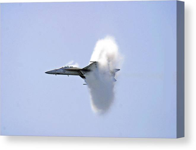 Aviation Canvas Print featuring the photograph Breakthrough by Frank Savarese