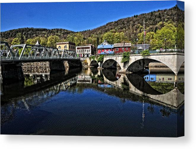 River Canvas Print featuring the photograph Bridges To Buckland by Mike Martin