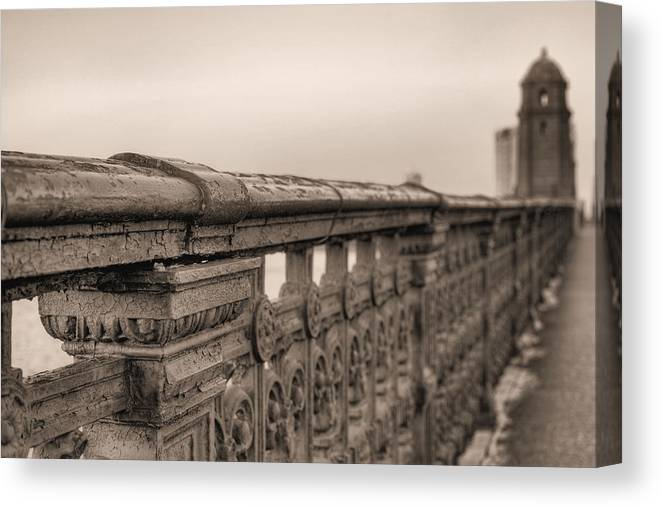 Boston Canvas Print featuring the photograph Bridging The Charles Bw by JC Findley