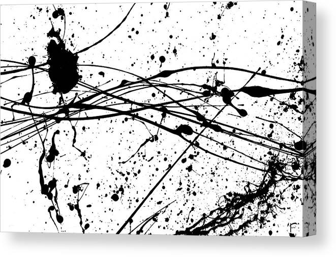 Abstract Canvas Print featuring the painting Brush Accident by Faith Waite
